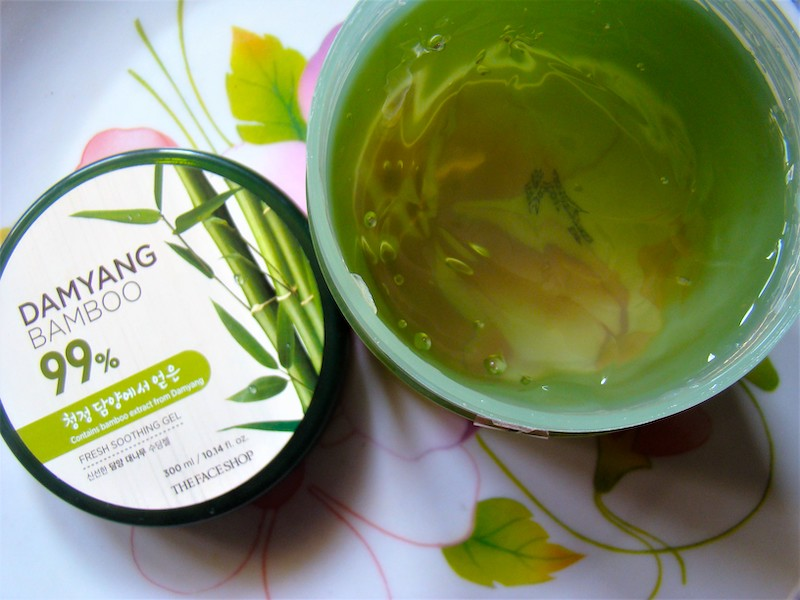 The Face Shop Damyang Bamboo Fresh Soothing Gel Review Photos Price