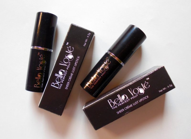 Bella Voste Nude Tease & Mocha Magic Sheer Creme Lust Lipstick Review