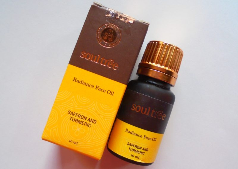 SoulTree Radiance Face Oil Saffron and Turmeric Review Photos Price