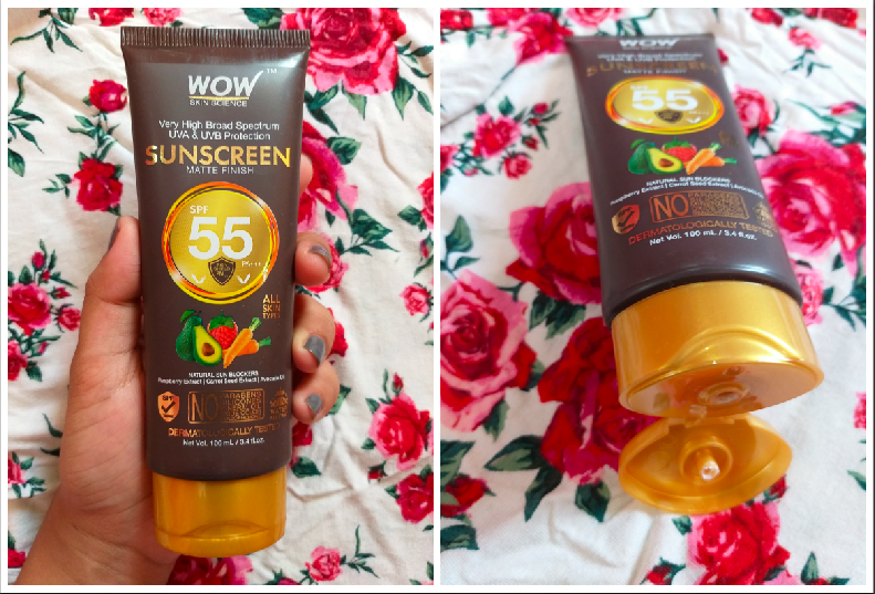 WOW Skin Science Sunscreen SPF 55 Lotion Review Price Photos