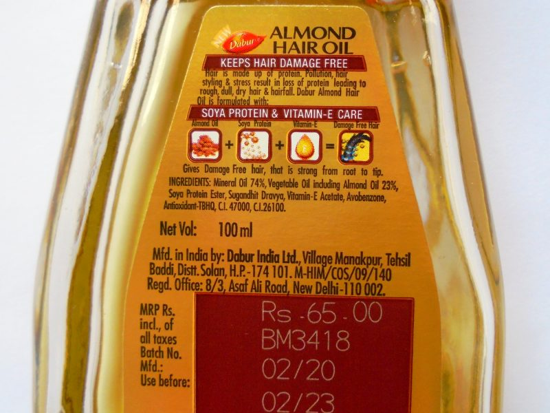 Dabur Almond Hair Oil Review Photos Price