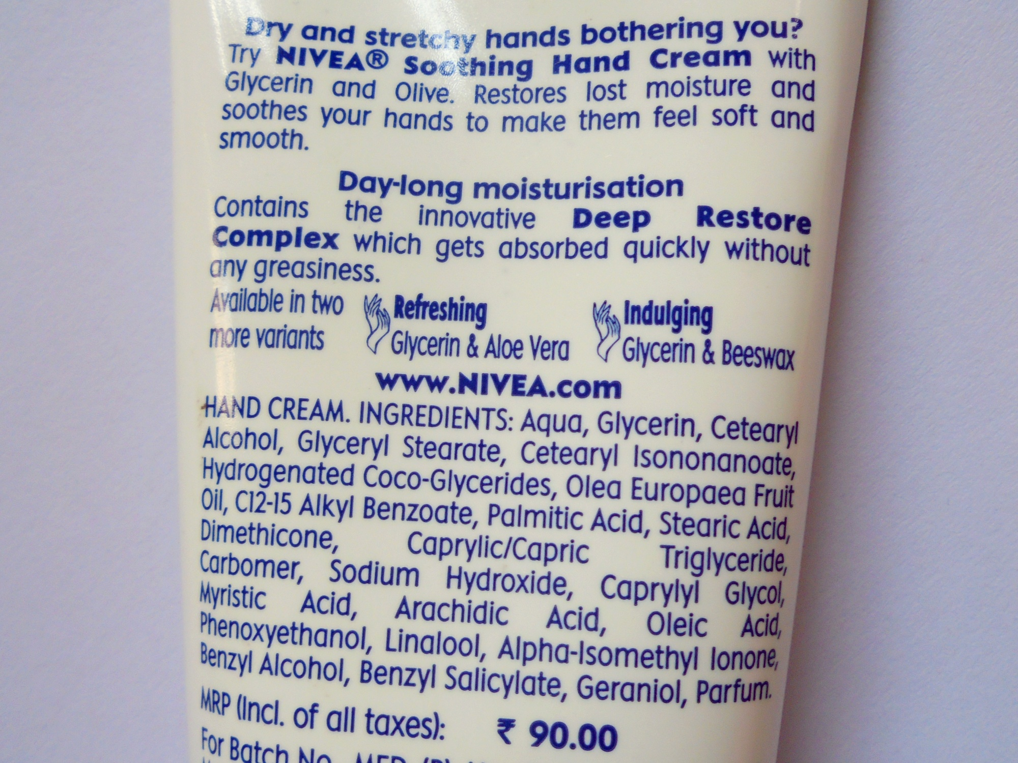 NIVEA Hand Cream Soothing Glycerin & Olive Review | Nykaa
