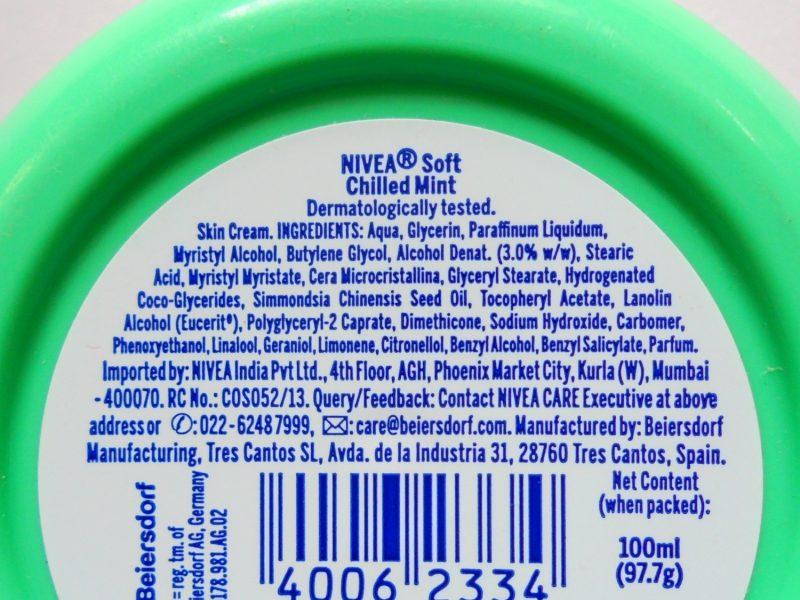 Hidratante Nivea Soft Light resfriado hortelã revisão fotos preço
