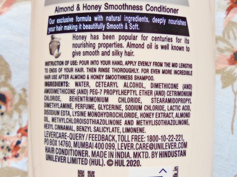 Sunsilk Almond & Honey Smoothness Conditioner Review Photos Price